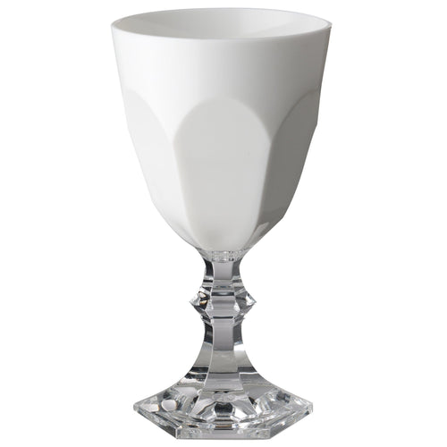 Mario Luca Giusti Dolce Vita Plastic Water Glass White - italianluxurygroup.com.au