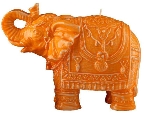 Mario Luca Giusti Elephant Candle Orange - italianluxurygroup.com.au