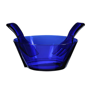Mario Luca Giusti Fulmine Blue Plastic Salad Bowl with Serving - italianluxurygroup.com.au
