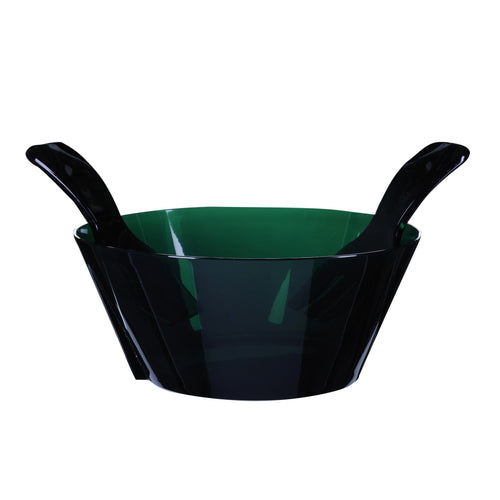Mario Luca Giusti Fulmine Green Plastic Salad Bowl with Serving - italianluxurygroup.com.au
