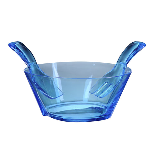 Mario Luca Giusti Fulmine Turquoise Plastic Salad Bowl with Serving - italianluxurygroup.com.au