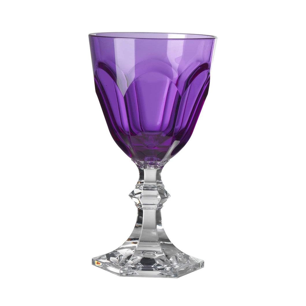 Mario Luca Giusti Plastic Wine Glass Goblet Black Purple - italianluxurygroup.com.au