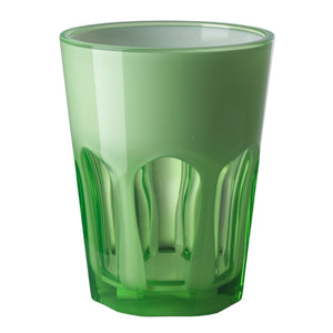 Italian Luxury Group Water Glass Mario Luca Giusti Set of 6 Double Face Plastic Cups Green Brand