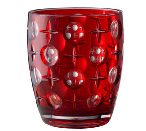 Italian Luxury Group Tumbler Mario Luca Giusti Super Star Tumbler Red Brand