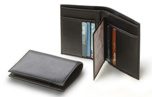 italianluxurygroup.com.au Men's Wallet Men's Black Italian Leather Credit Card Wallet ID Brand