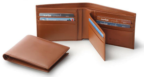 Men's Brown Italian Leather Credit Card Wallet Holder - italianluxurygroup.com.au