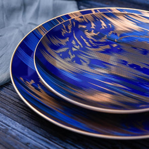 Mistery Ceramic Steak Salad Plates - italianluxurygroup.com.au