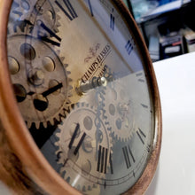 Load image into Gallery viewer, Newton alarm moving cogs bedside clock - copper - italianluxurygroup.com.au