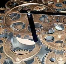 Load image into Gallery viewer, italianluxurygroup.com.au Clock Newton alarm moving cogs standing clock -  black Brand