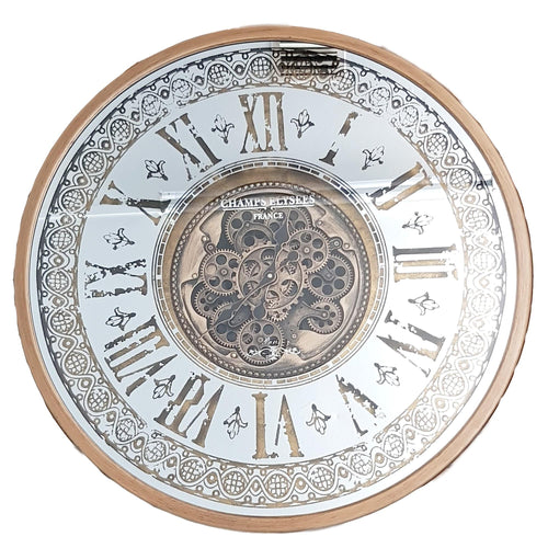 Italian Luxury Group Clock Persian Moving Cogs Clock Gold Brand