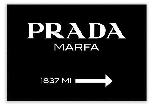 Italian Luxury Group Print Prada Marfa Black Brand