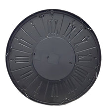 Load image into Gallery viewer, Round 60cm George Modern moving cogs wall clock - Grey - italianluxurygroup.com.au