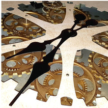 Load image into Gallery viewer, Round 60cm Ragnar moving cogs wall clock - Gold - italianluxurygroup.com.au