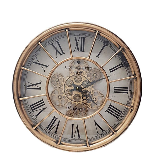 italianluxurygroup.com.au Clock Round Basset wall clock Copper Brand