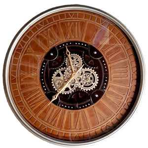 Rustique D80cm Round moving cogs Clock - italianluxurygroup.com.au