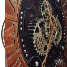 Load image into Gallery viewer, italianluxurygroup.com.au Clock Rustique D80cm Round moving cogs Clock Brand