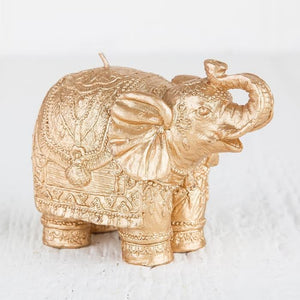 Italian Luxury Group Candles Mario Luca Giusti Elephant Candle Gold Brand