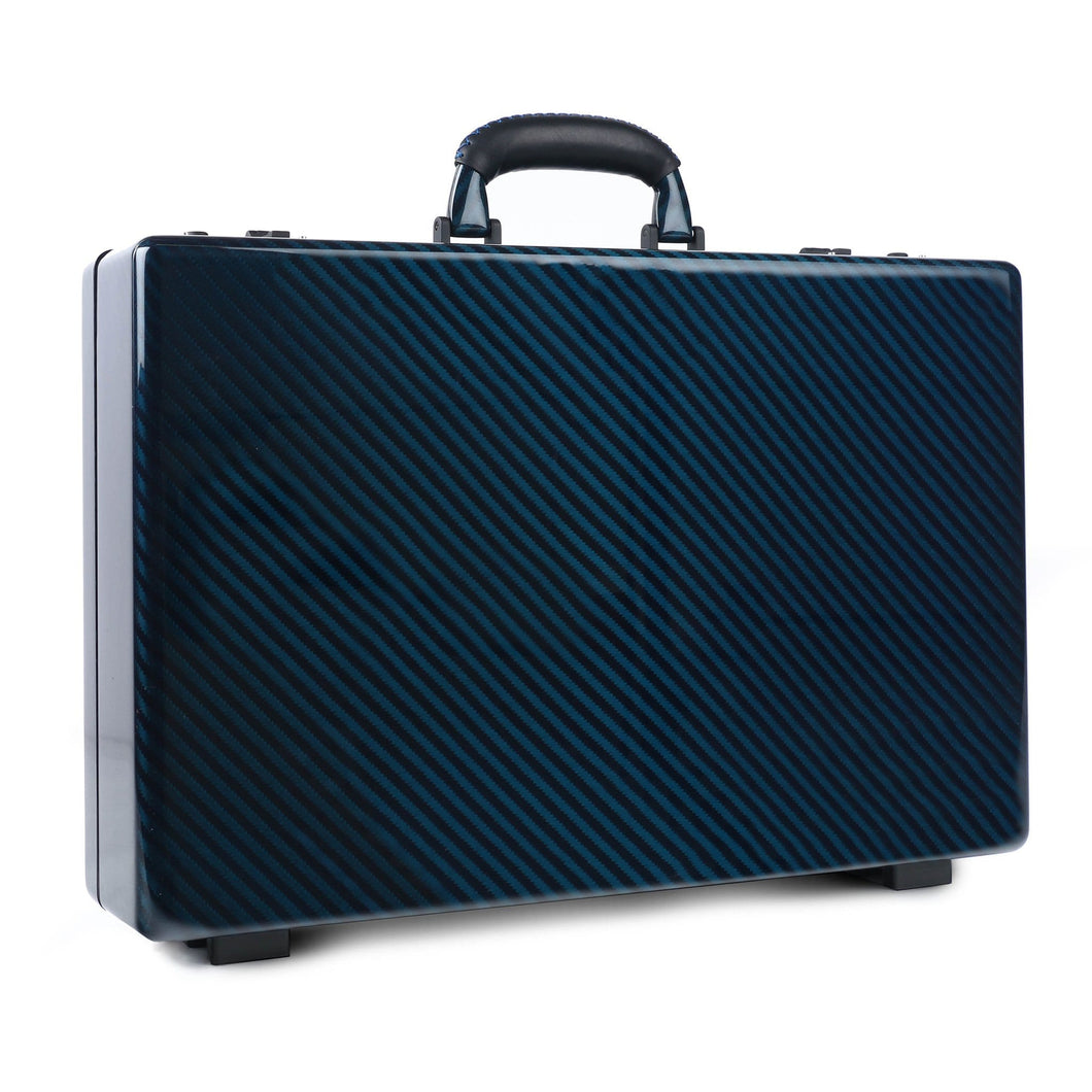 Tecknomonster Amaya L Attache Case Blue Carbon - italianluxurygroup.com.au