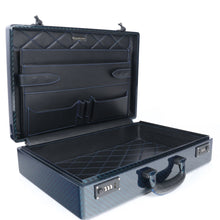 Load image into Gallery viewer, Tecknomonster Amaya L Attache Case Blue Carbon - italianluxurygroup.com.au