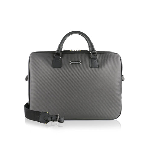 Tecknomonster Pegasus Briefcase Bag Soft Carbon Fiber - italianluxurygroup.com.au
