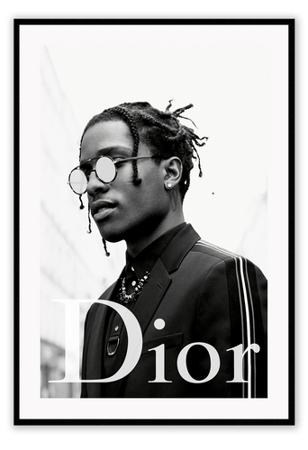 Italian Luxury Group Prints ASAP Rocky Dior Brand