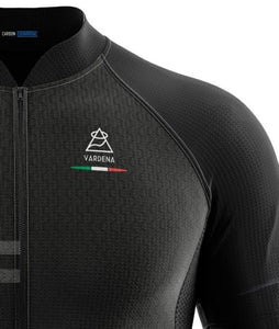 Vardena Honey Line Black Cycling Jersey - italianluxurygroup.com.au