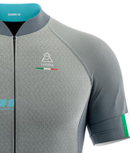 Load image into Gallery viewer, Vardena Silver Blue Cycling Jersey - italianluxurygroup.com.au
