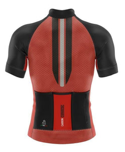 Vardena Super Line Red Cycling Jersey - italianluxurygroup.com.au