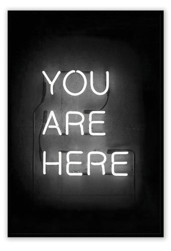 Italian Luxury Group Print You Are Here Neon Brand