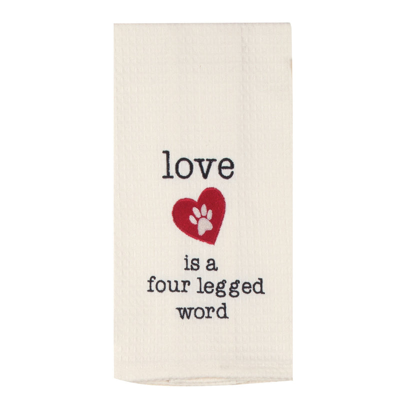 Love is a Four Legged Word Tea Towel