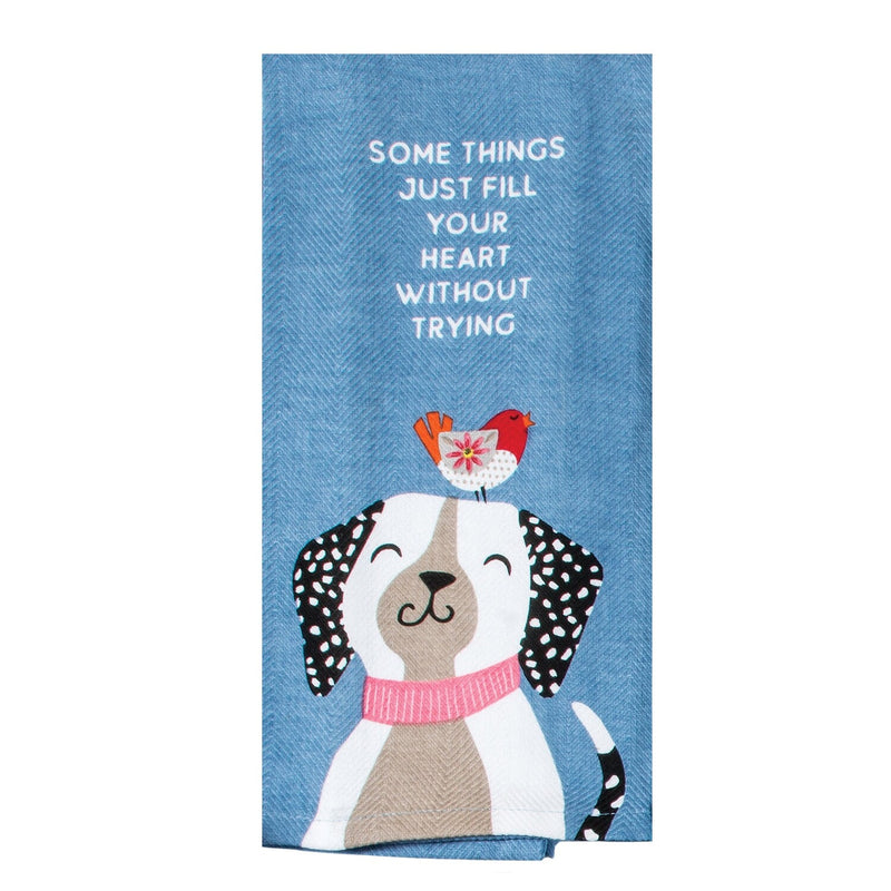 Dog - Some Things Fill Your Heart Tea Towel