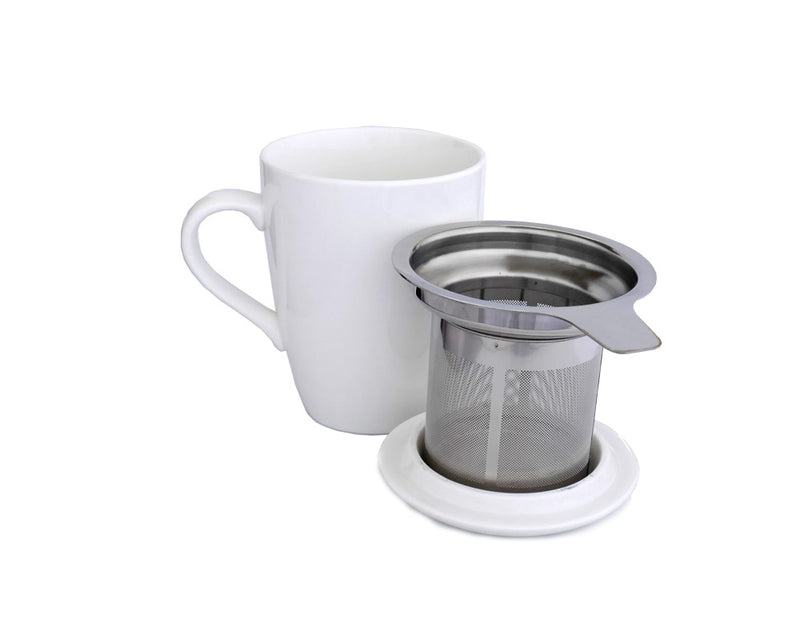 Teacup and Infuser Set - White