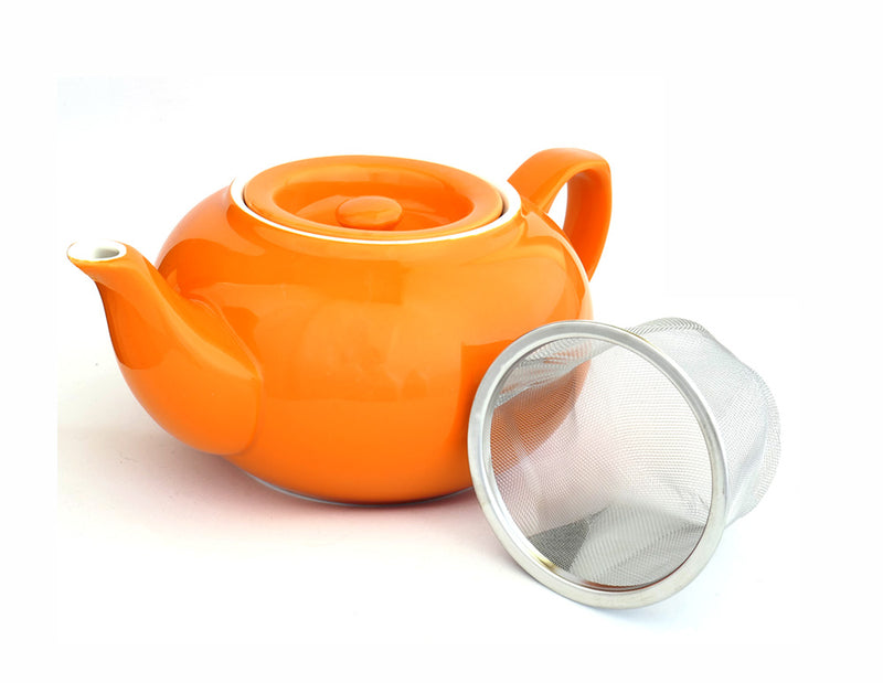 Ceramic Teapot - Orange (3-4 Cup)