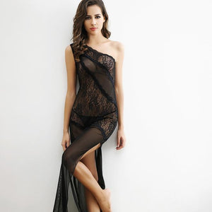 Temptation Transparent Long Summer Lace Nightgown