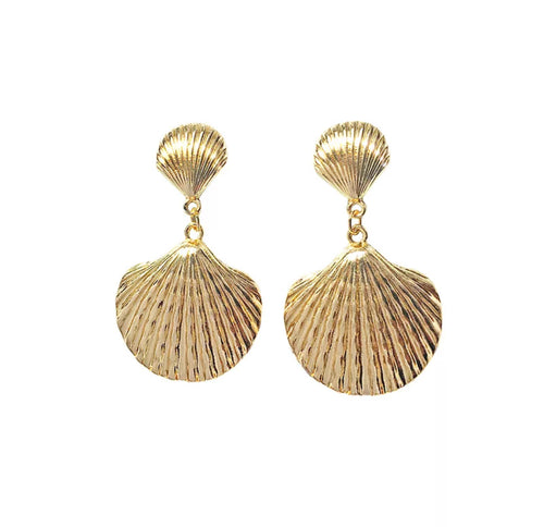 Golden sea earrings