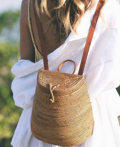 """Mustica"" - Rattan Backpack Basket"