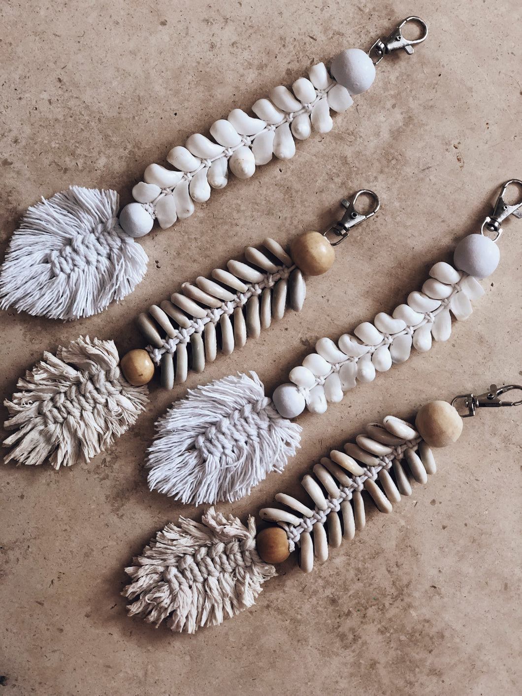 Seashell bag charm/ keychain