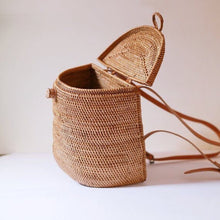 "Load image into Gallery viewer, ""Dewi"" - Rattan Backpack"