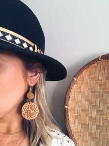 Boho Straw Rattan Earrings