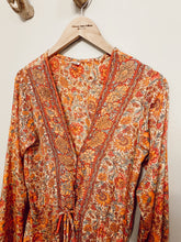 Load image into Gallery viewer, Kimono Dress orange