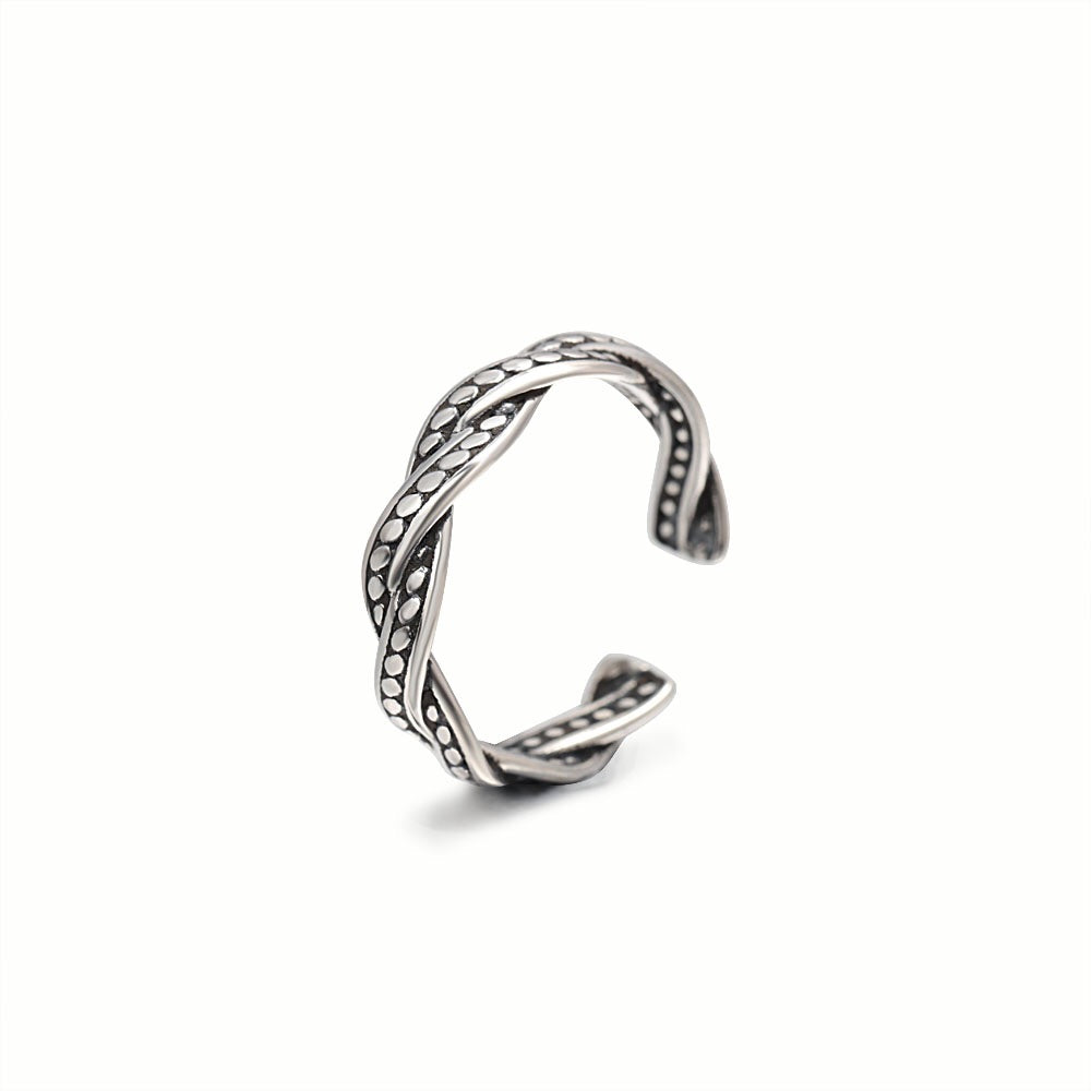 Intertwined Paths ring