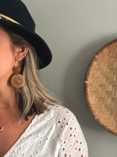 Load image into Gallery viewer, Boho Straw Rattan Earrings