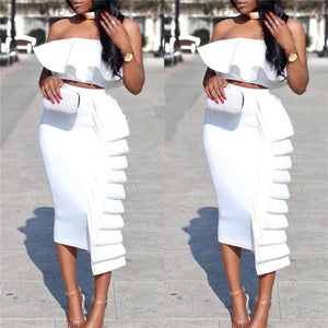 MARWA PENCIL HIGH WAIST SKIRT