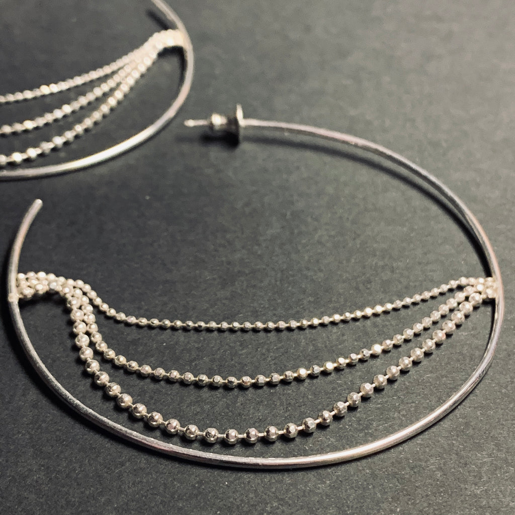Beach Street Large Hoop Earrings