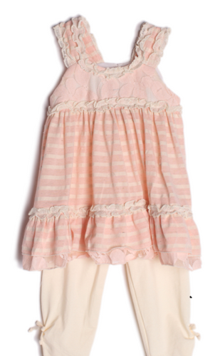 Isobella & Chloe Peaches and Cream 2 Pc. Outfit
