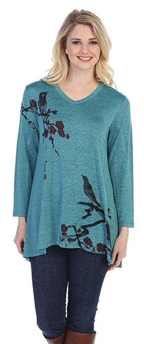 Women's Melody Slinky Knit High Low Tunic Top