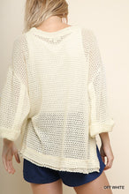 Load image into Gallery viewer, Rolled Sleeve Waffle Knit Top