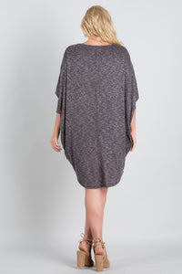 Wide Neck, Doiman Sleeve Tunic
