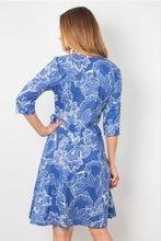 Load image into Gallery viewer, Simply Noelle  Wrap Around Town Dress Blue, Black, & Red