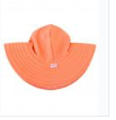 Ruffle Butts Swim Hats for the sun.  Coral Hat
